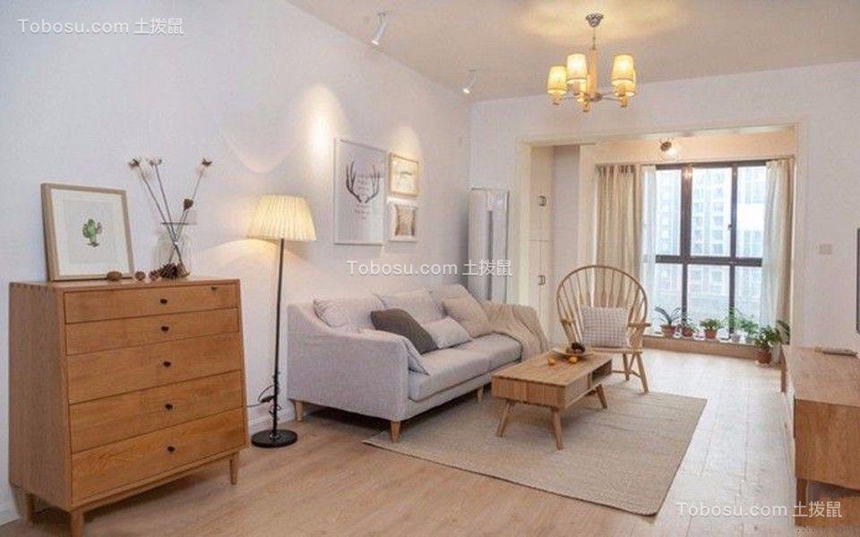 简约风格89平米三室两厅新房装修效果图