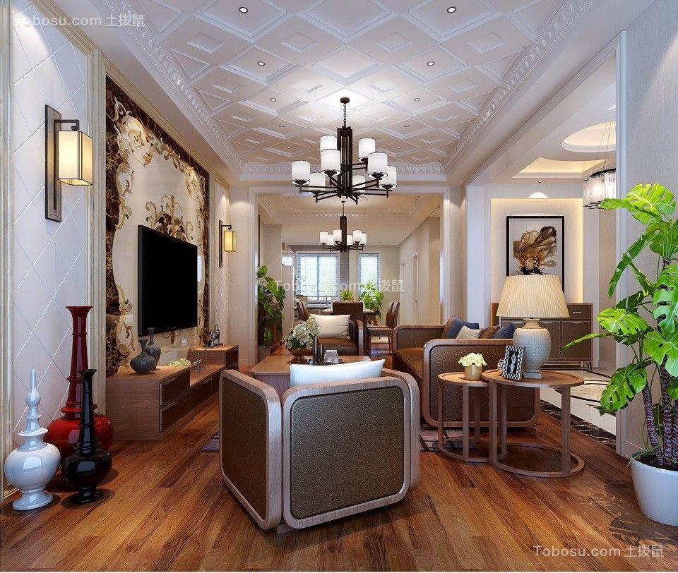 180平美式混搭风格别墅装修效果图