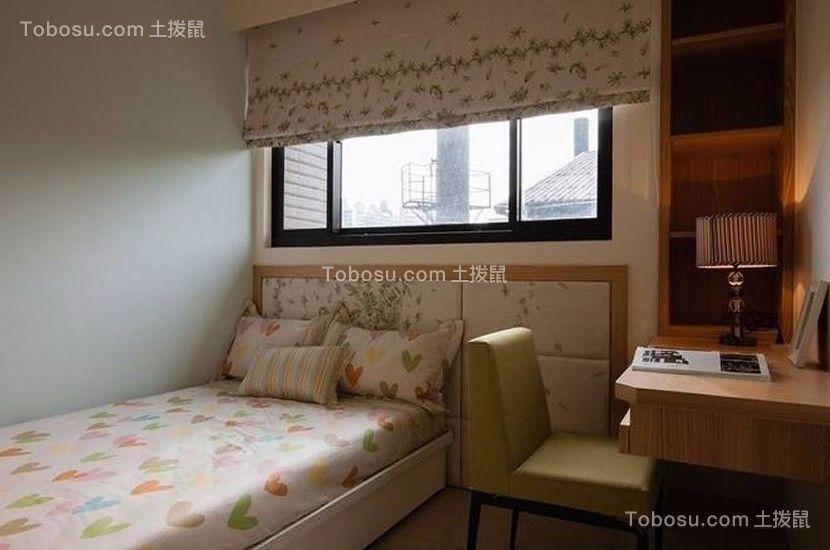 儿童房彩色窗帘简约风格装修图片
