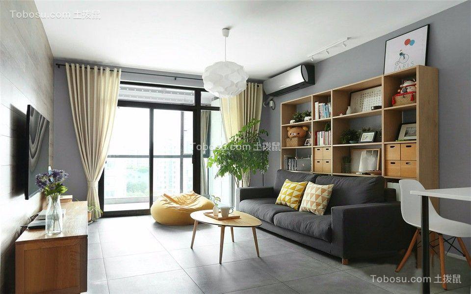 118平美式风格三居室装修效果图图片
