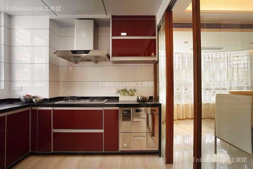 厨房 橱柜_古典风格160平米四室两厅新房装修效果图