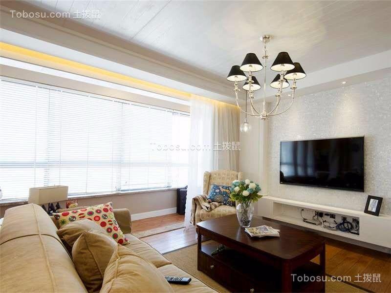 简欧风格125平米三室两厅新房装修效果图