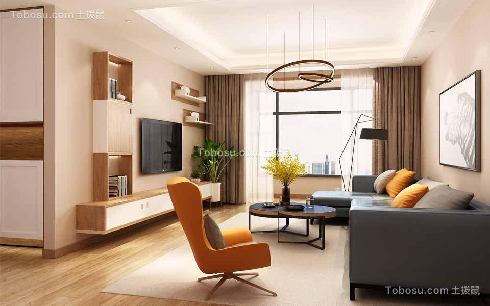 140平北欧风格三居室装修效果图