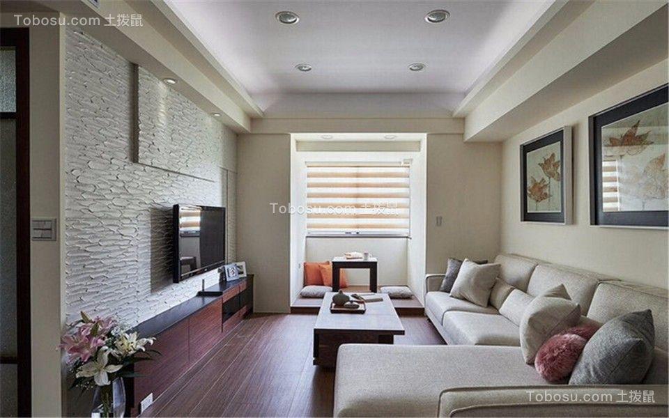 简约风格83平米三室两厅新房装修效果图