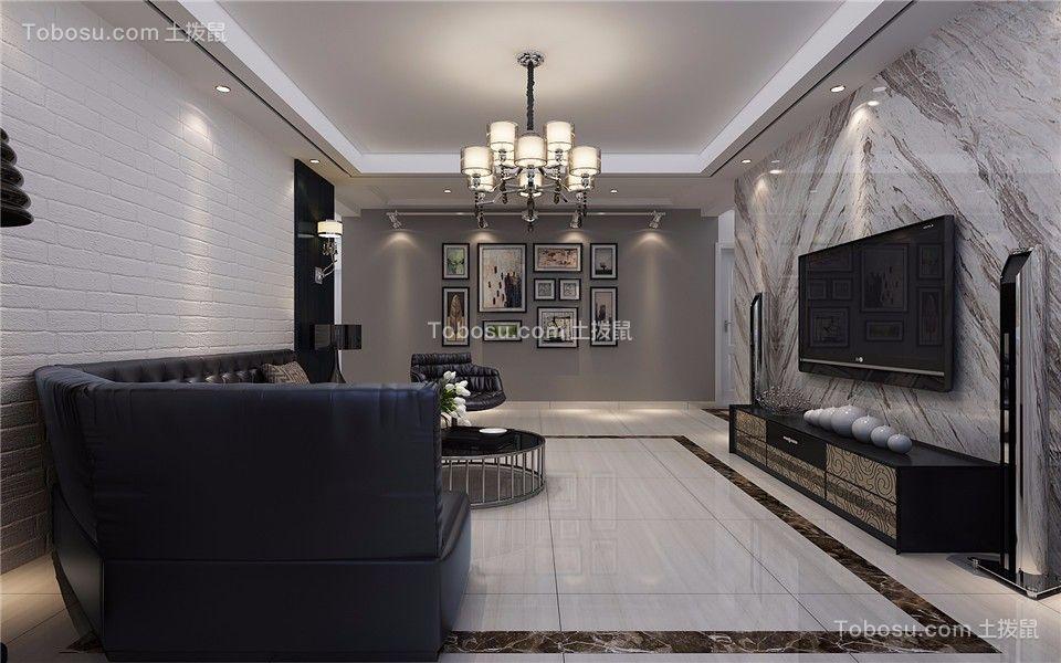 后现代风格130平米三室两厅新房装修效果图