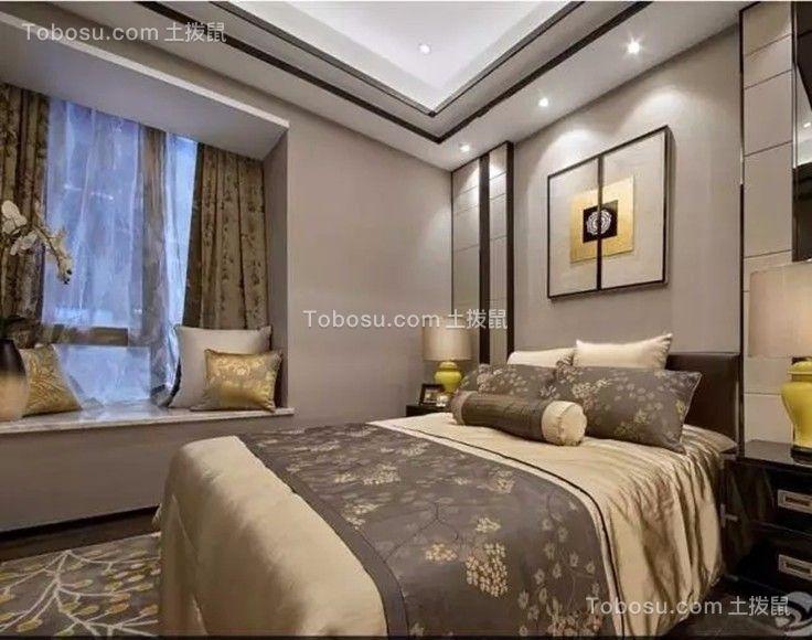 卧室白色飘窗新中式风格装修设计图片