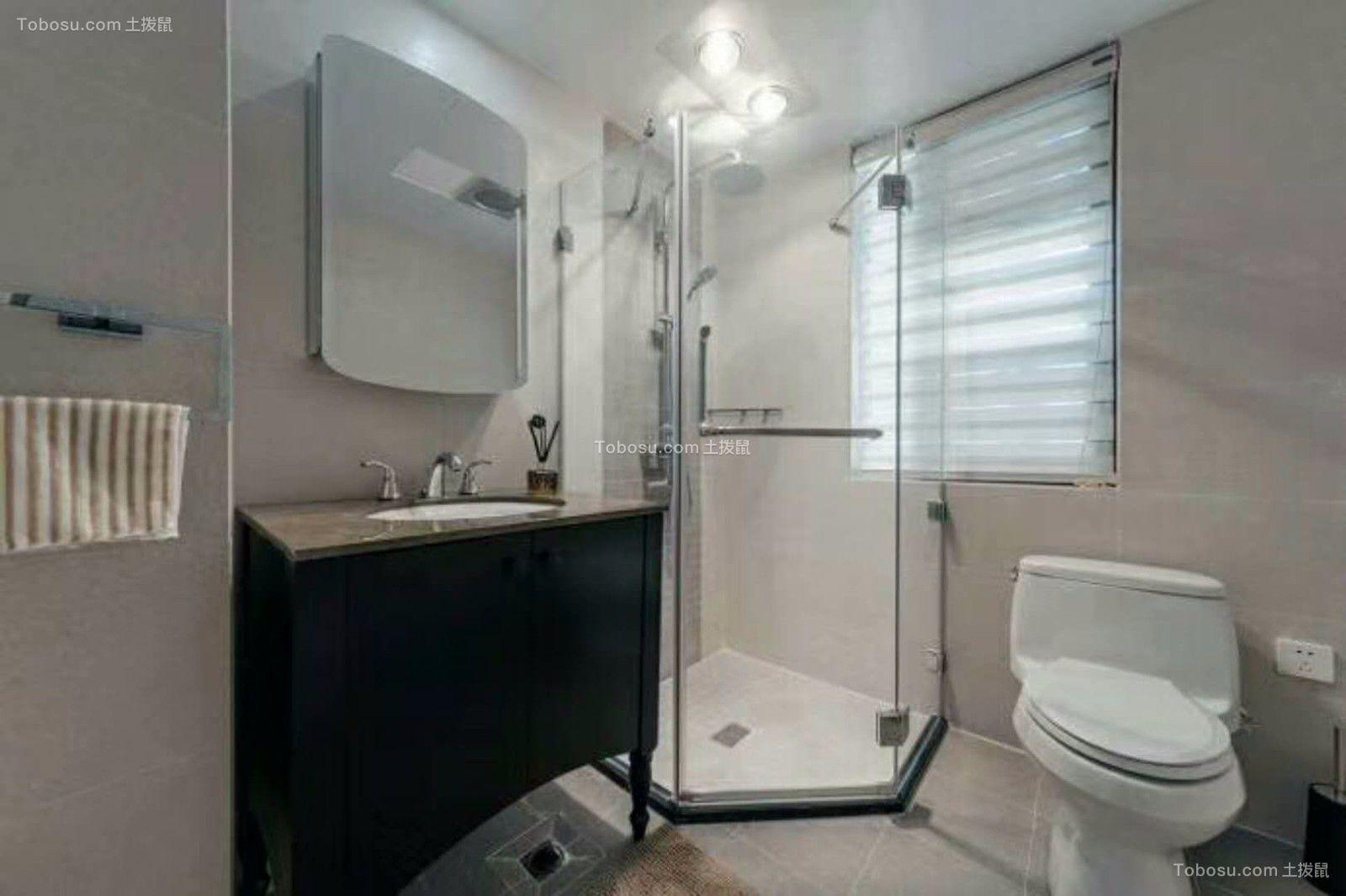 卫生间 洗漱台_现代简约风格95平米两室两厅新房装修效果图