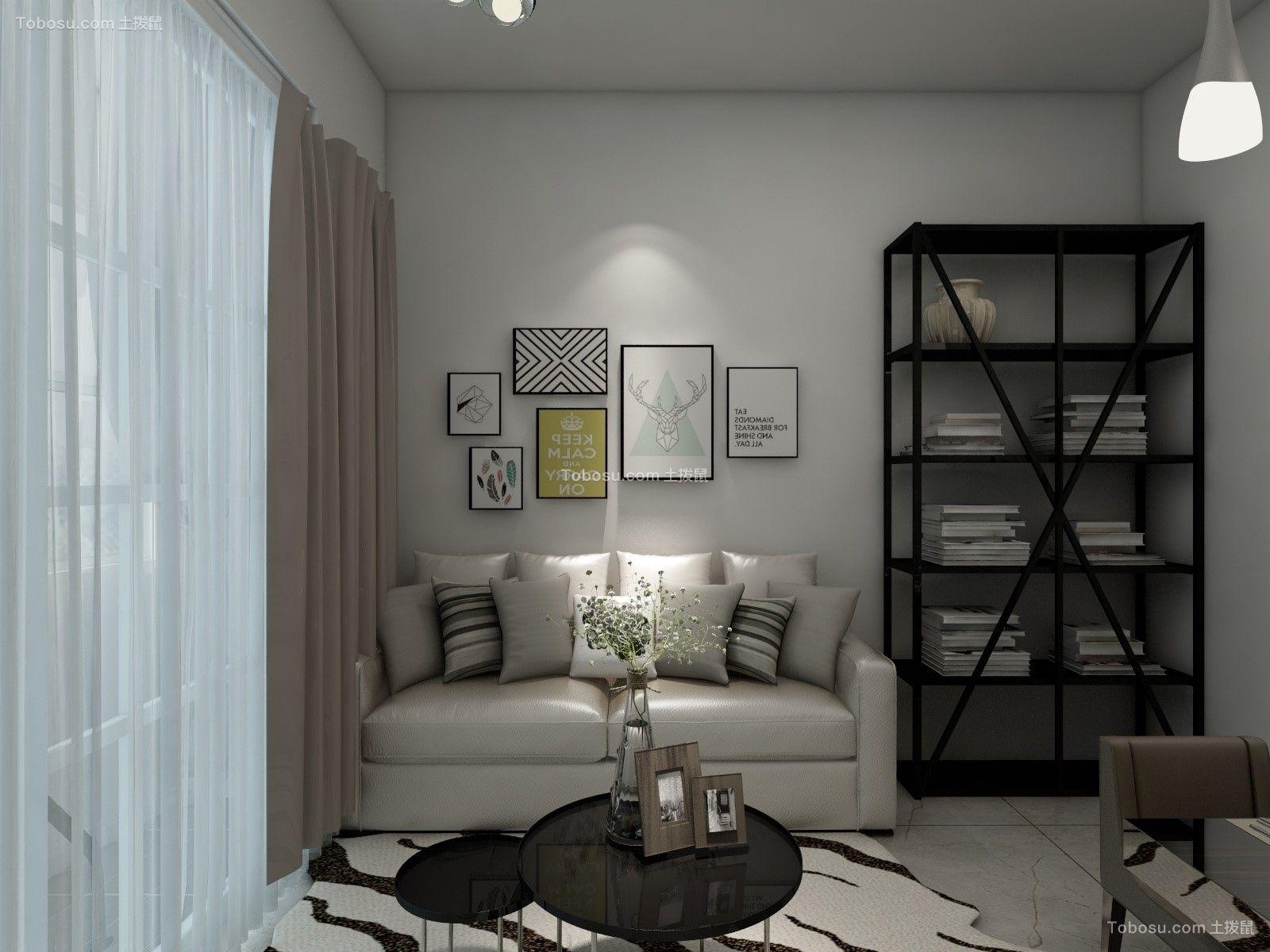 简约风格39平米一居室新房装修效果图
