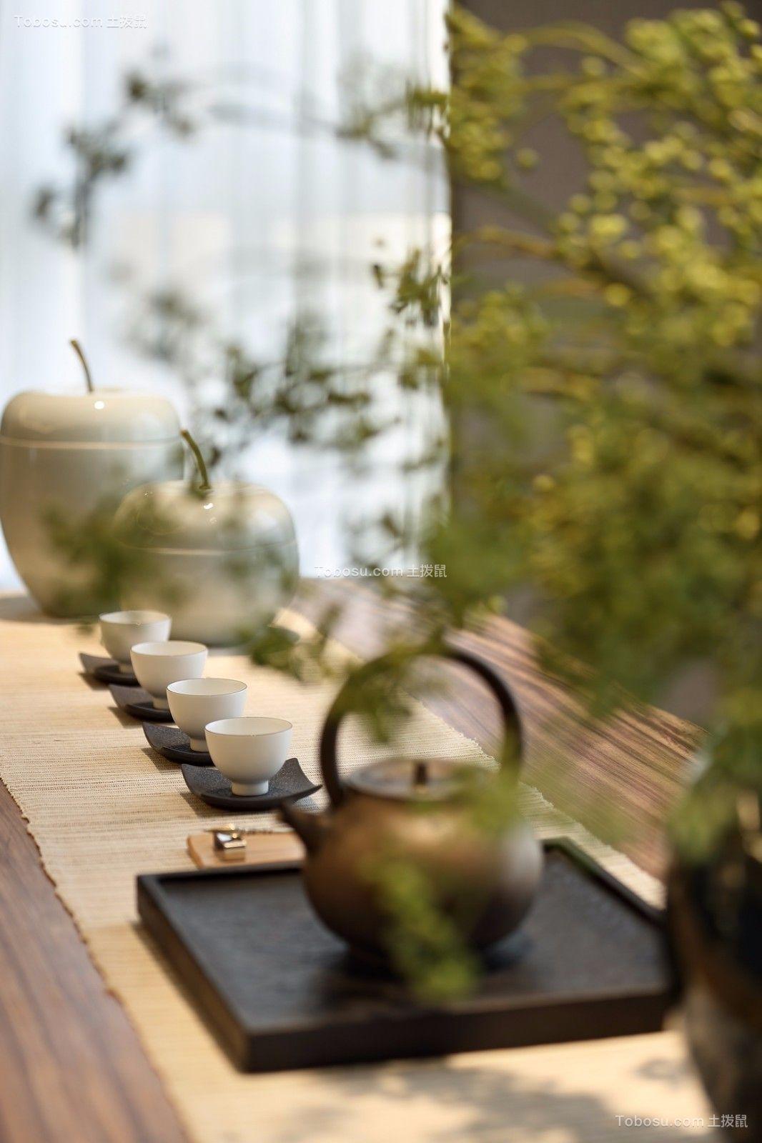 阳台咖啡色细节新中式风格装修设计图片