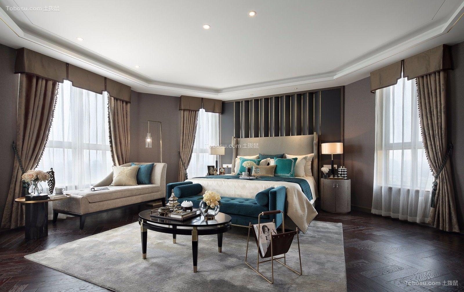 卧室黑色茶几新中式风格装修效果图