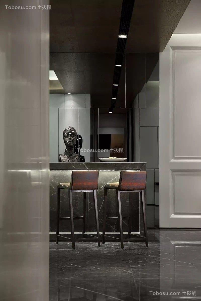 餐厅灰色现代简约风格装饰设计图片