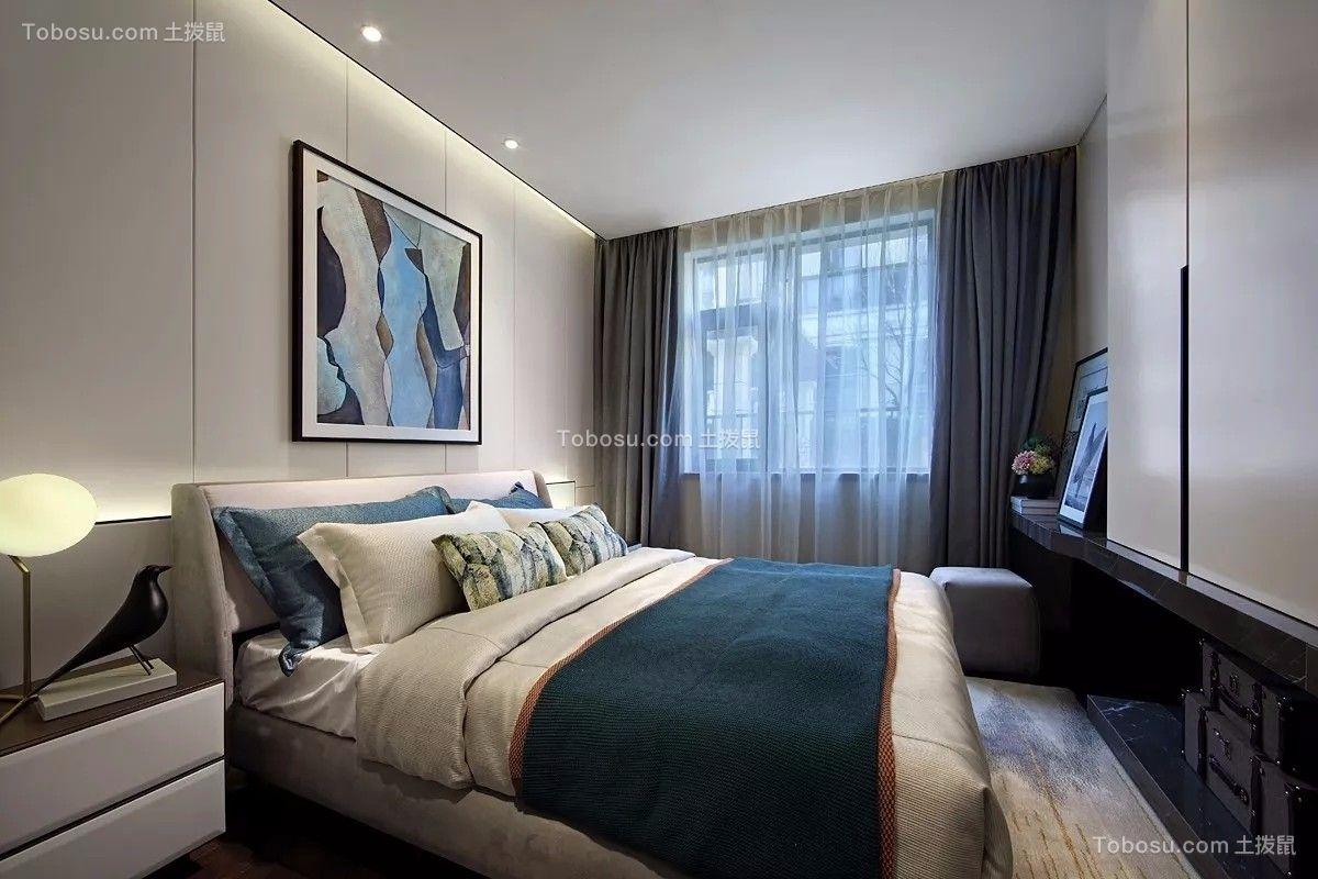 2018现代简约卧室装修设计图片 2018现代简约窗帘装修图