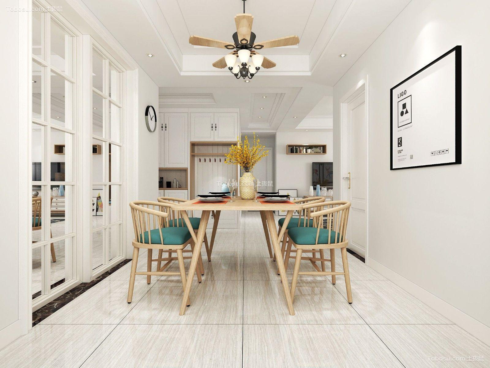 简欧风格122平米三室两厅新房装修效果图