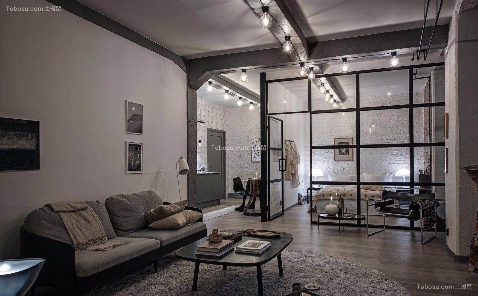 北欧风格108平米一居室室内装修效果图