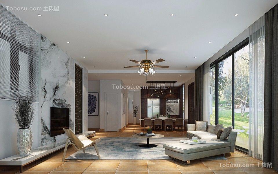 180平米三居室现代简约风格装修效果图