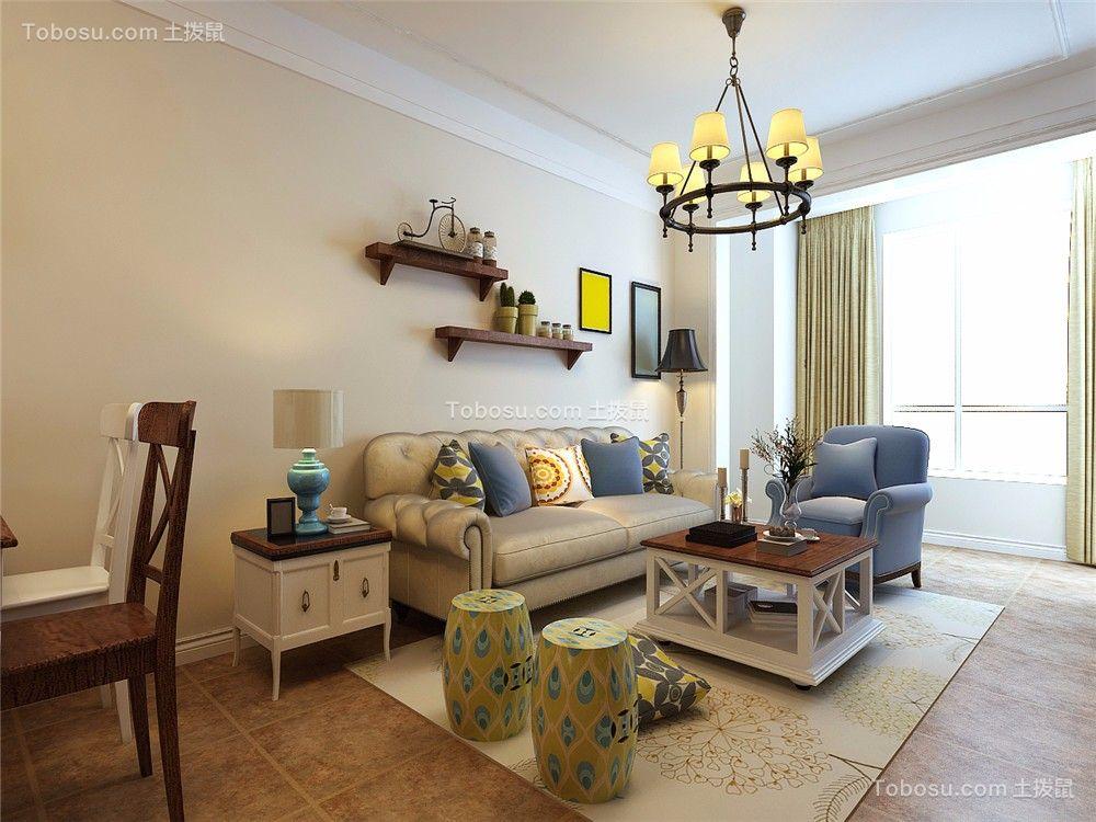 103平美式风格三居室装修效果图