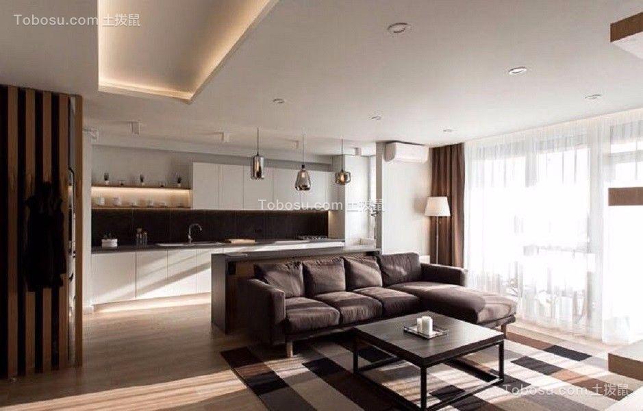 客厅_98㎡北欧风格两室一厅室内装修效果图