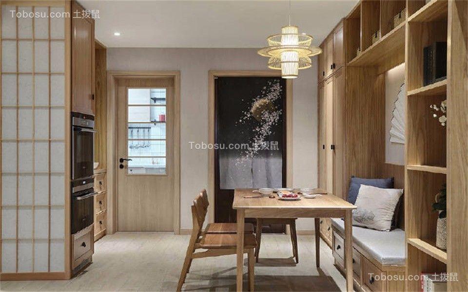 新中式风格135平米三室两厅新房装修效果图