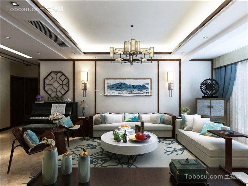 合肥东方名邸120平中式风格三居室装修效果图
