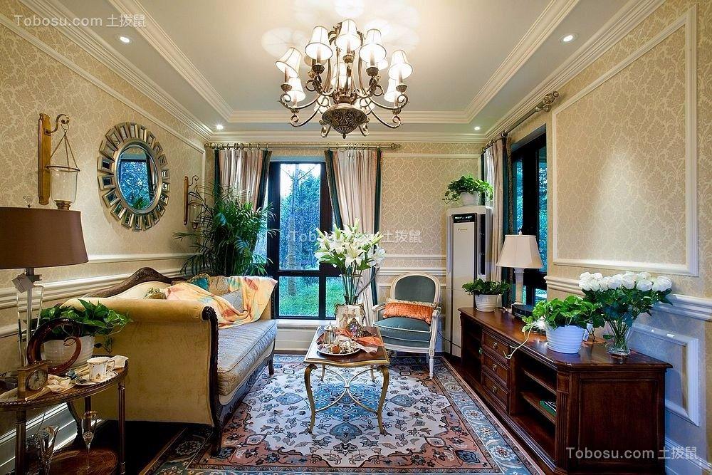 106平欧式风格三居室装修效果图