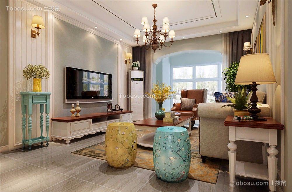 135㎡美式风格三室装修效果图