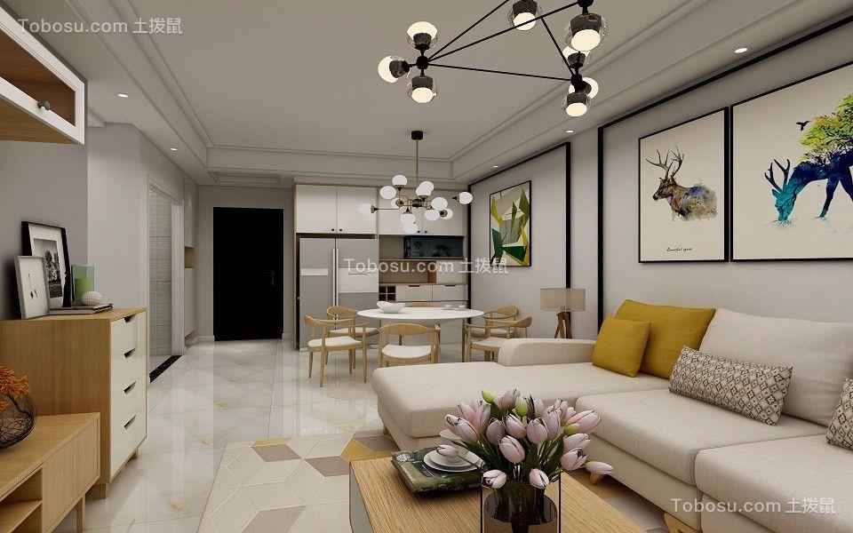 95平北欧风格三室两厅装修效果图