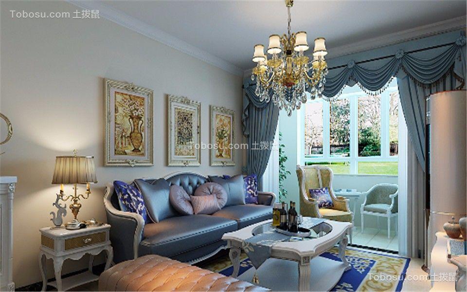 欧式风格83平米楼房室内装修效果图
