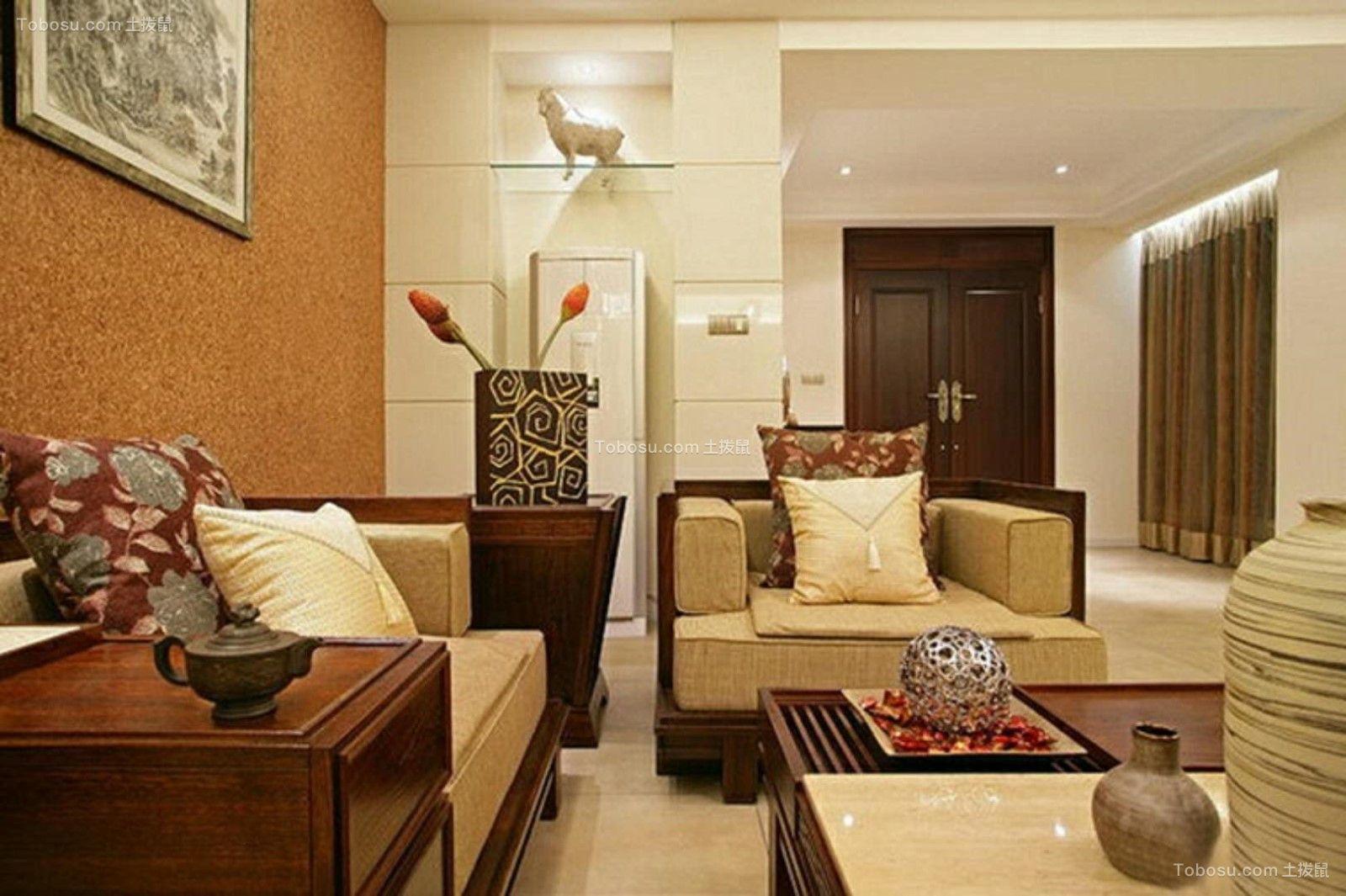 中式风格170平米四室两厅新房装修效果图