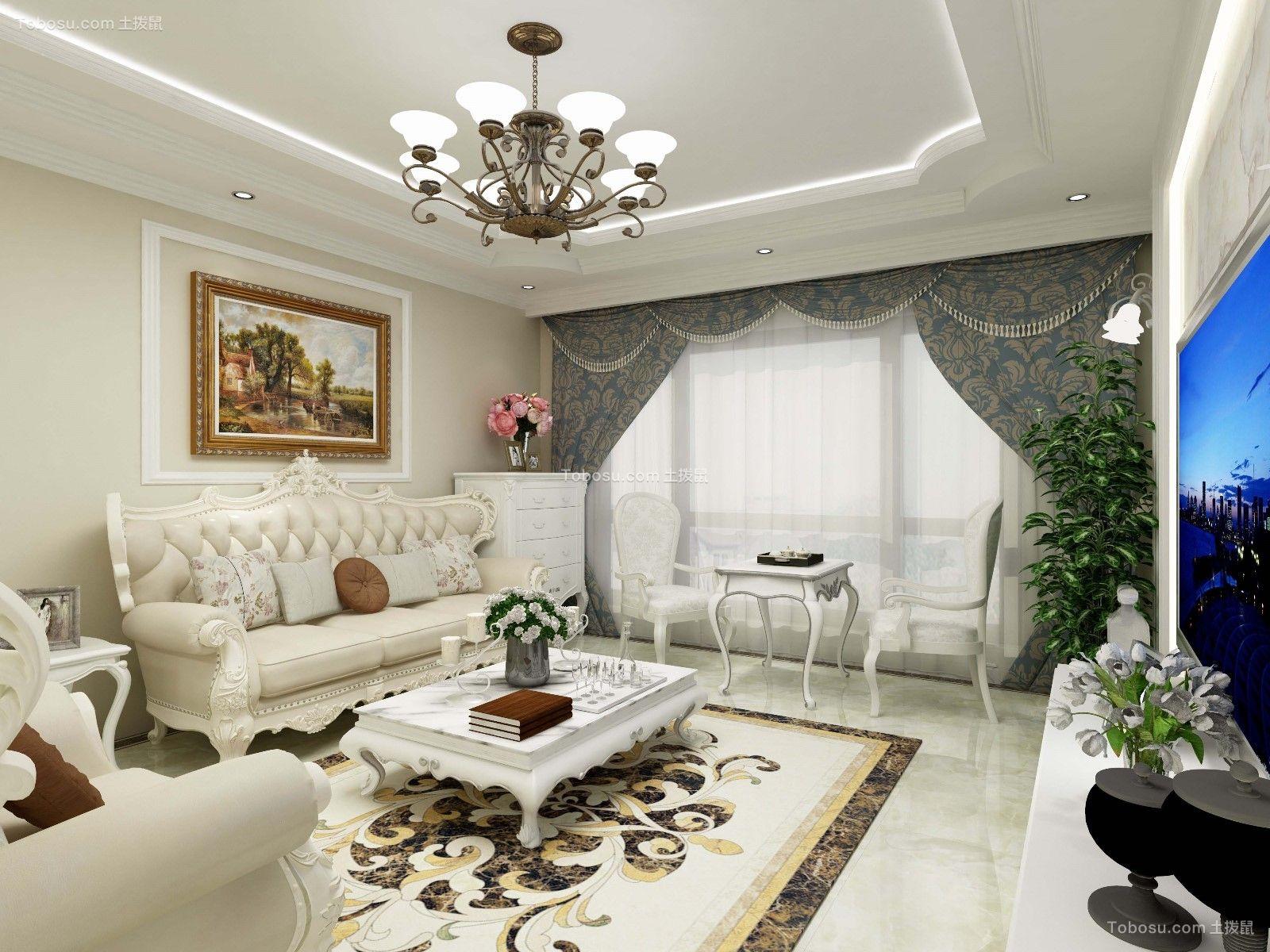 简欧风格126平米三室两厅新房装修效果图
