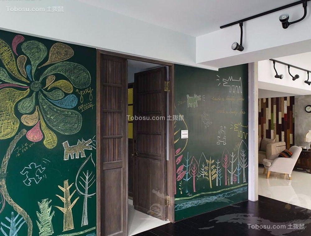 玄关 走廊_地中海风格90平米三室两厅新房装修效果图