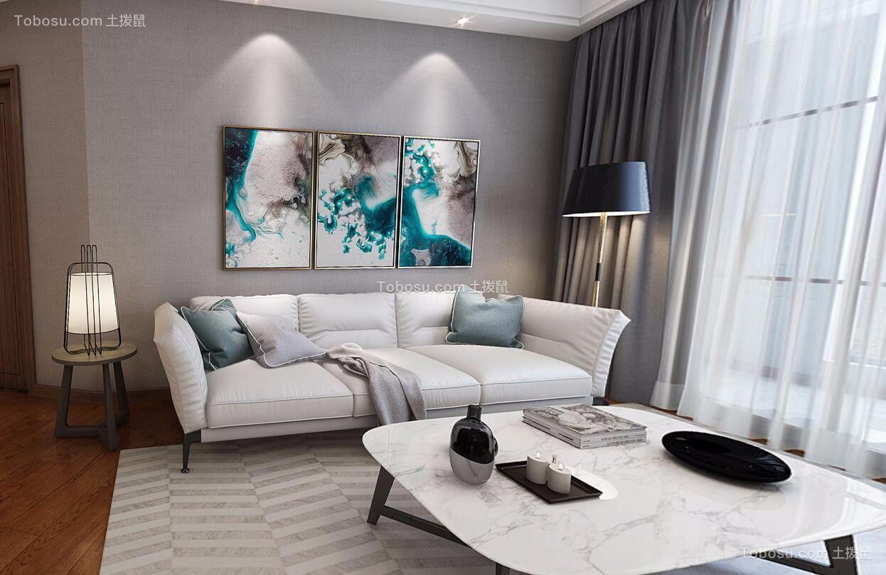 现代简约风格139平米大户型新房装修效果图