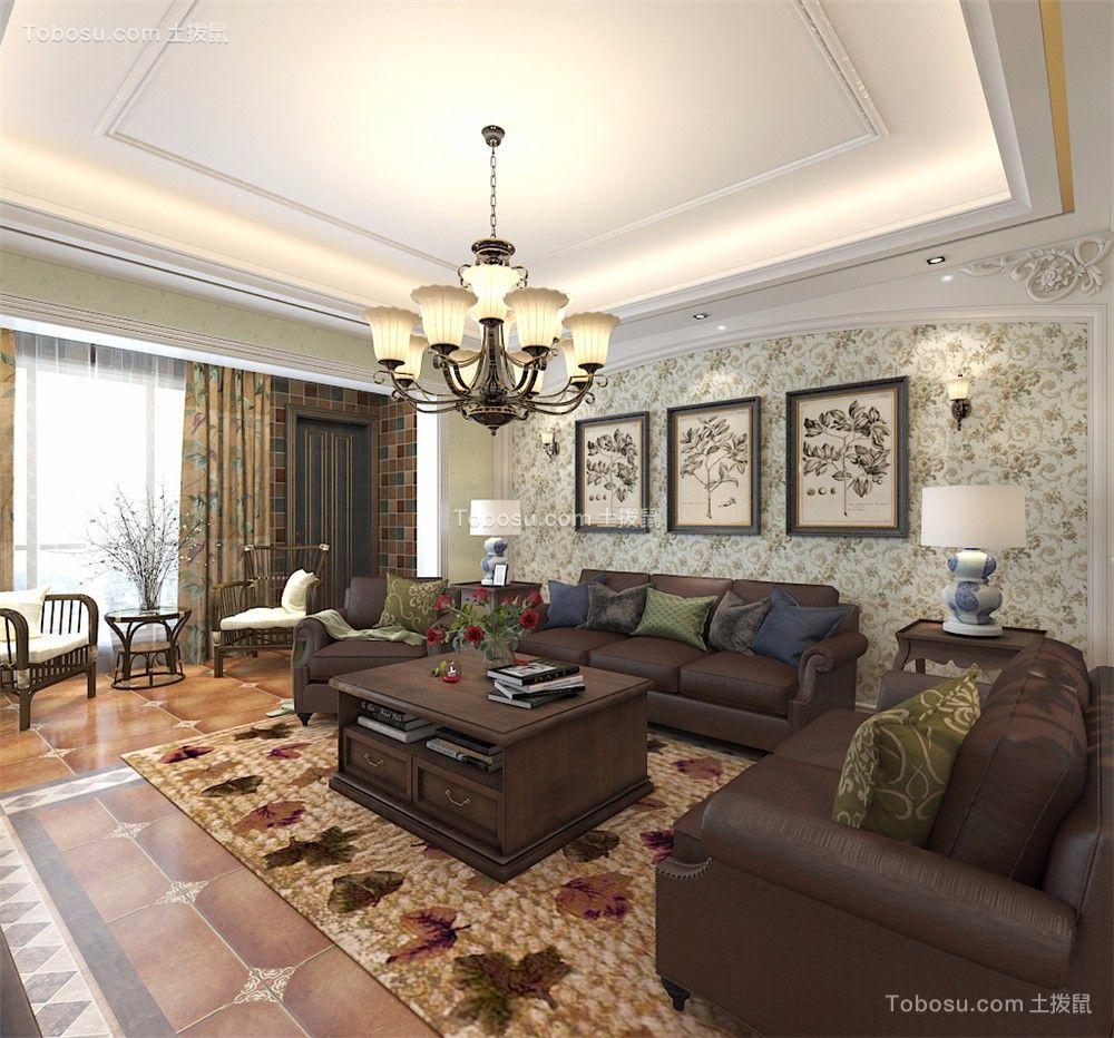 165㎡美式风格四居室装修效果图