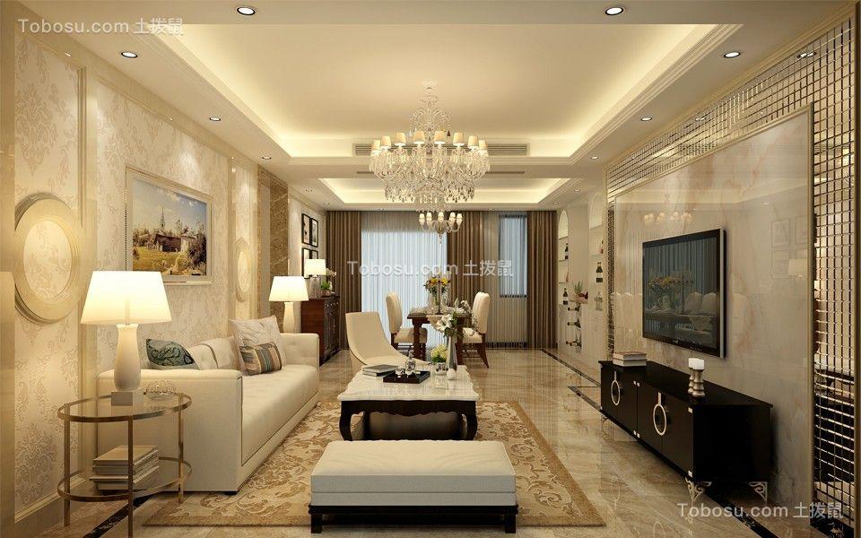 光明花半里150平现代风格四居室装修效果图