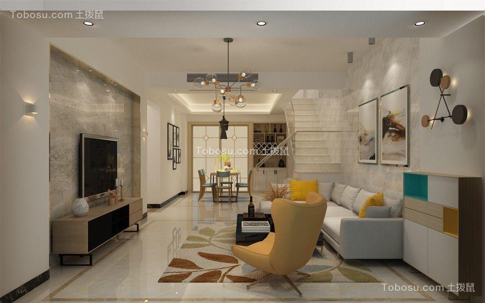 芭堤兰湾170平复式现代简约四居室效果图
