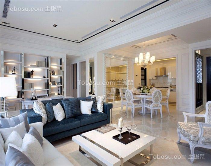 130平欧式三居室装修效果图