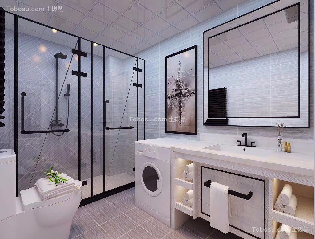 卫生间 洗漱台_美式风格105平米两室两厅新房装修效果图