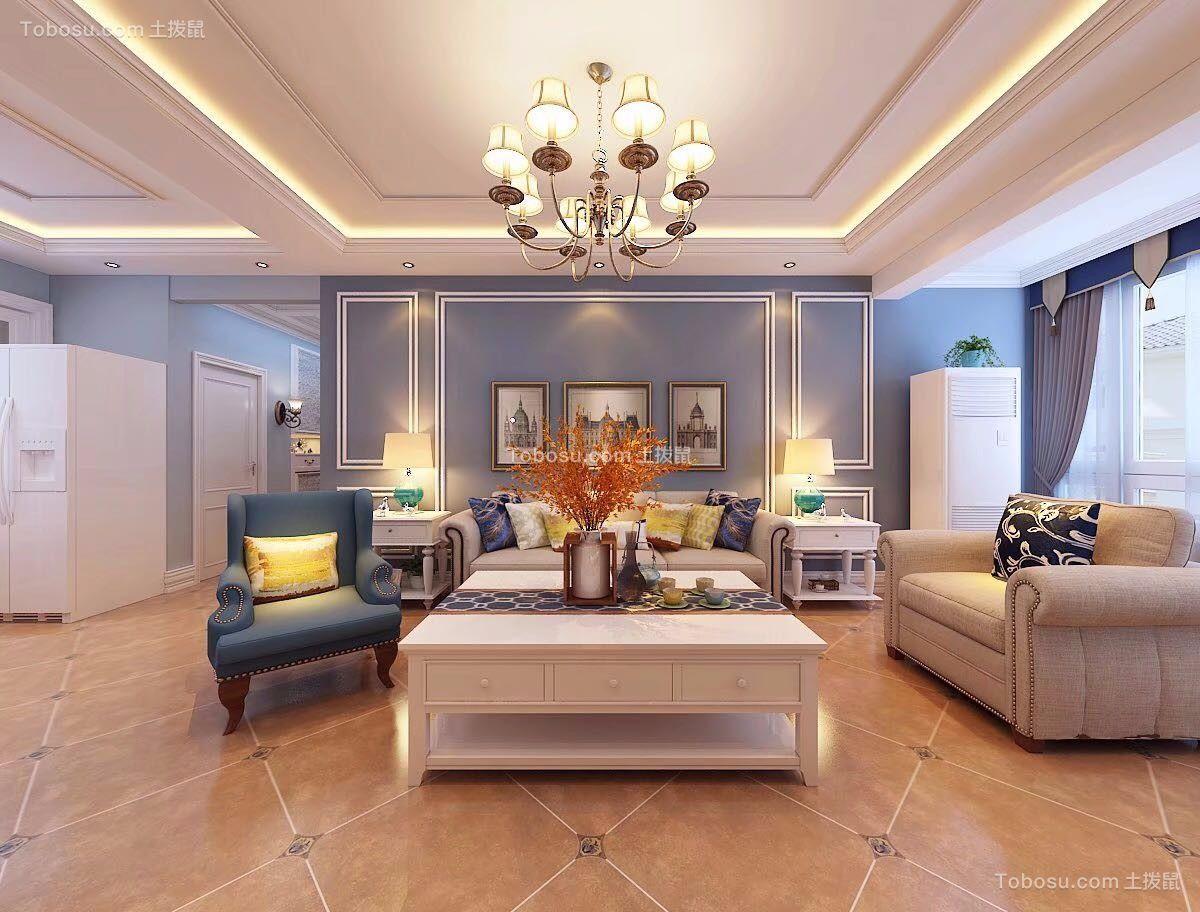 105㎡简美两室两厅室内装修效果图