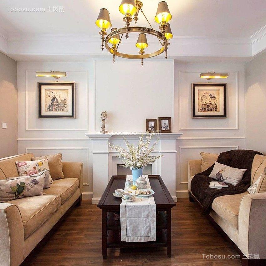 76㎡轻美式风格复式两居装修案例