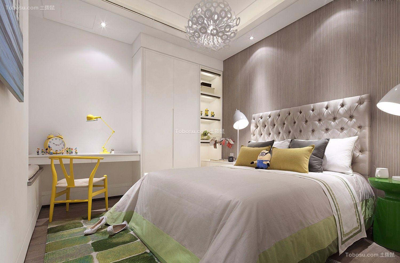 北欧风格126平米三室两厅新房装修效果图
