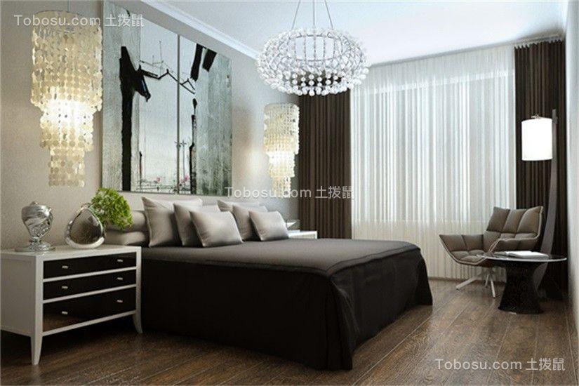 卧室彩色吊顶现代简约风格装潢图片