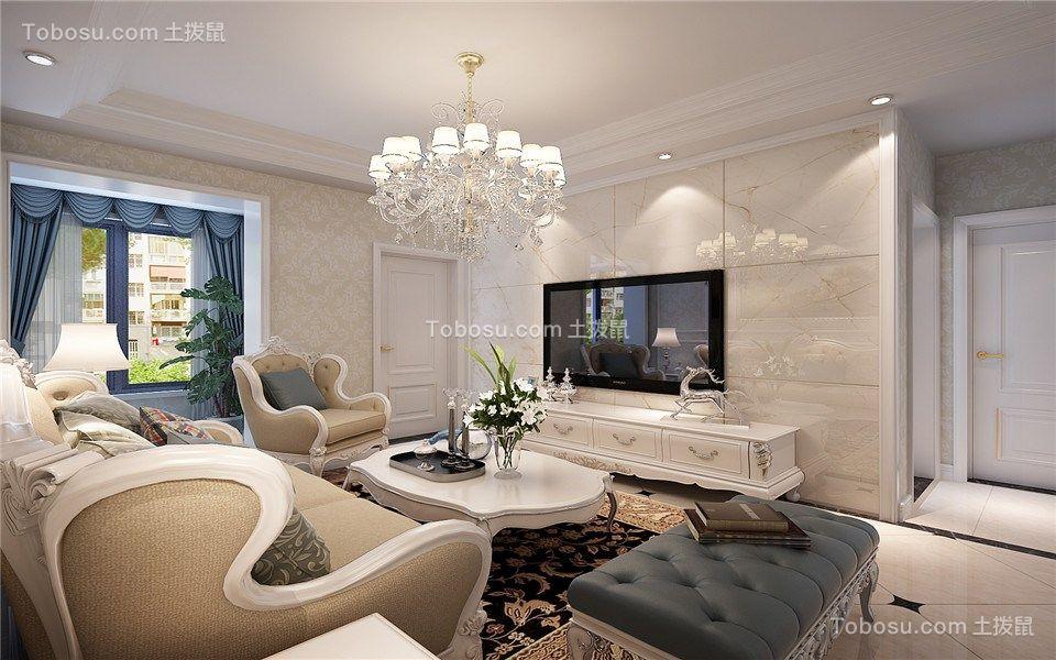 客厅黄色细节简欧风格装饰图片