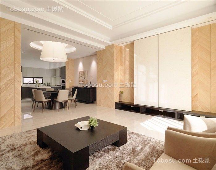 141平现代风三居室装修效果图