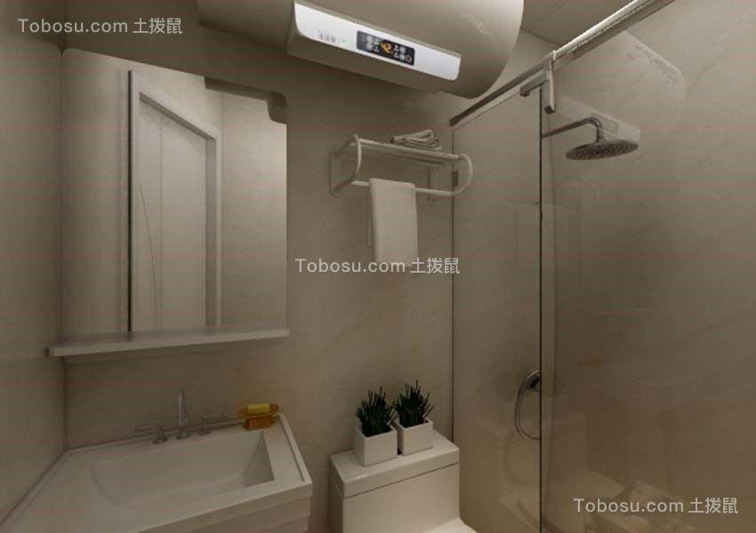 上海谷北小区43.9平米简约风格效果图