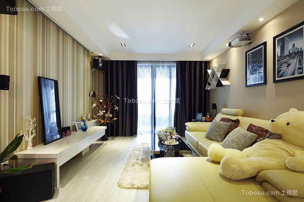 150方现代风格四居室装修效果图