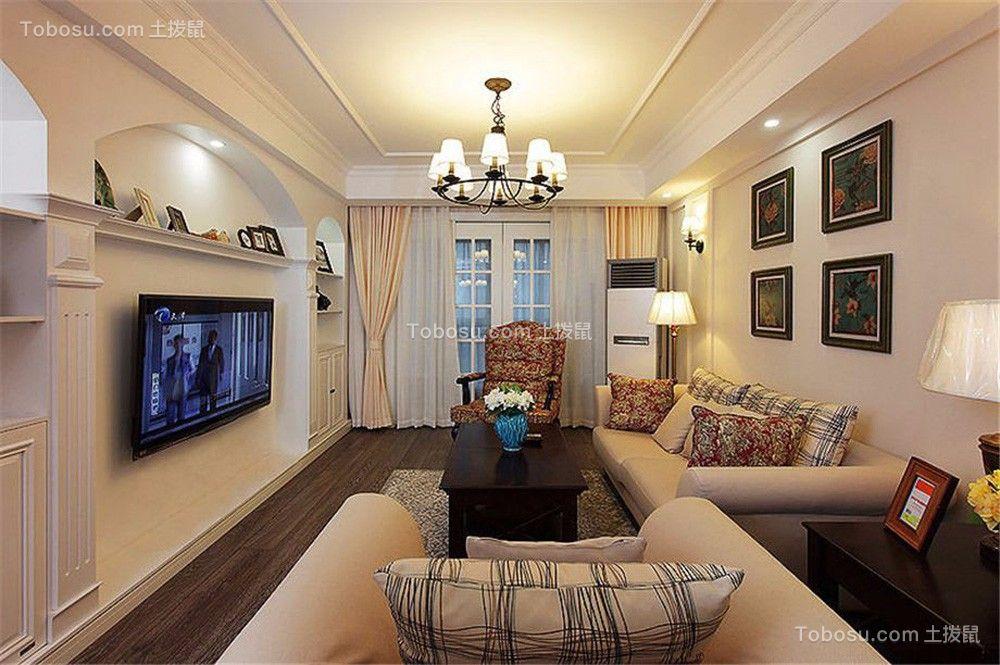 美式风格156平米四室两厅新房装修效果图