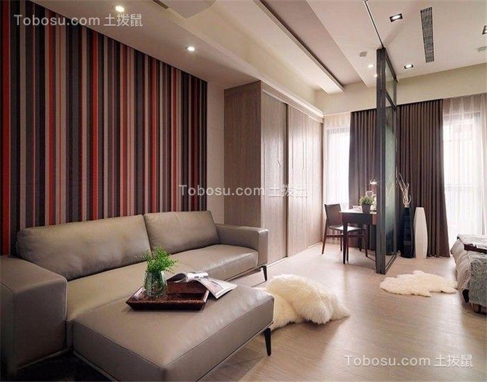 现代风格50平米一居室新房装修效果图