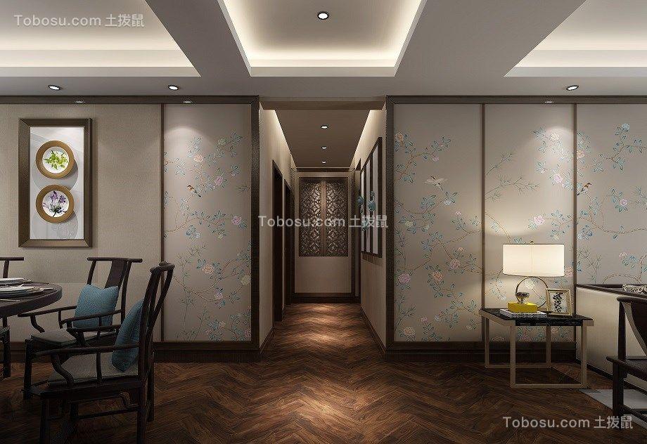 2018新中式客厅装修设计 2018新中式走廊效果图