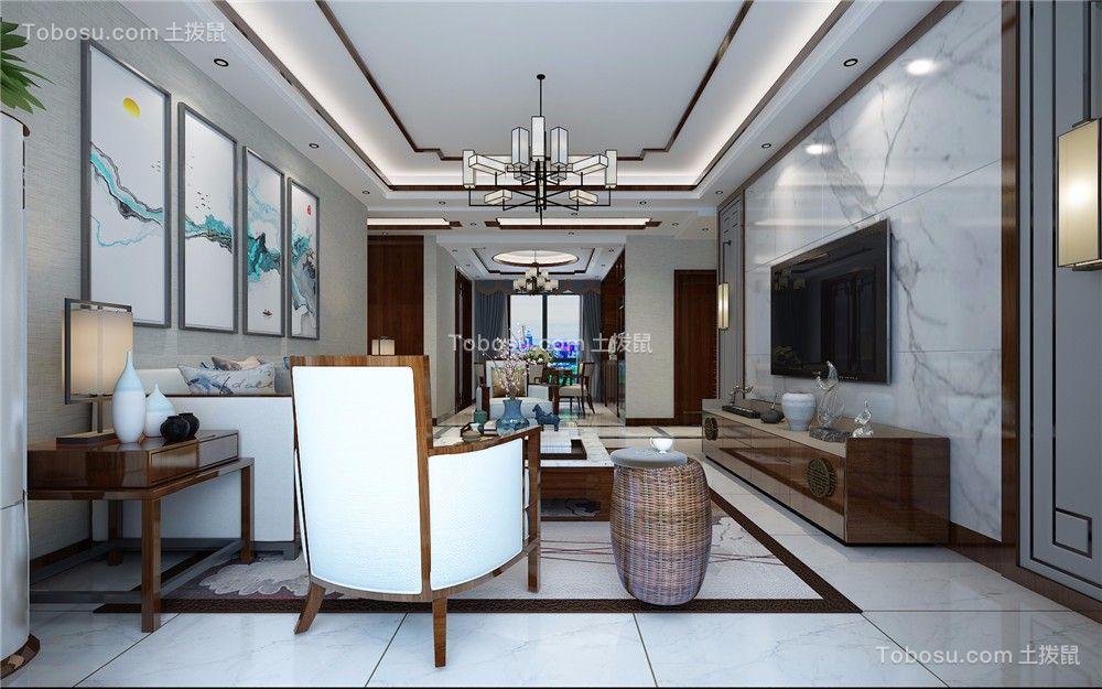 中式风格140平米三室两厅室内装修效果图