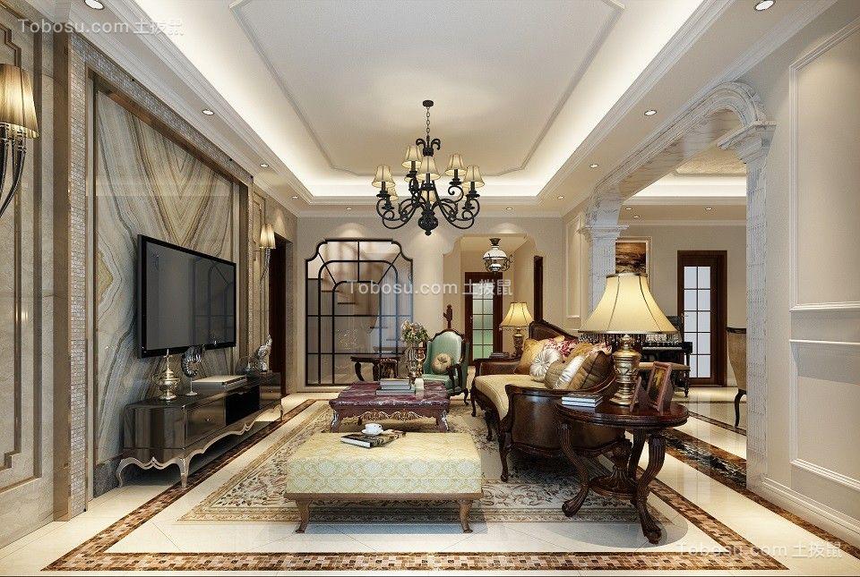 欧式风格240平米别墅室内装修效果图