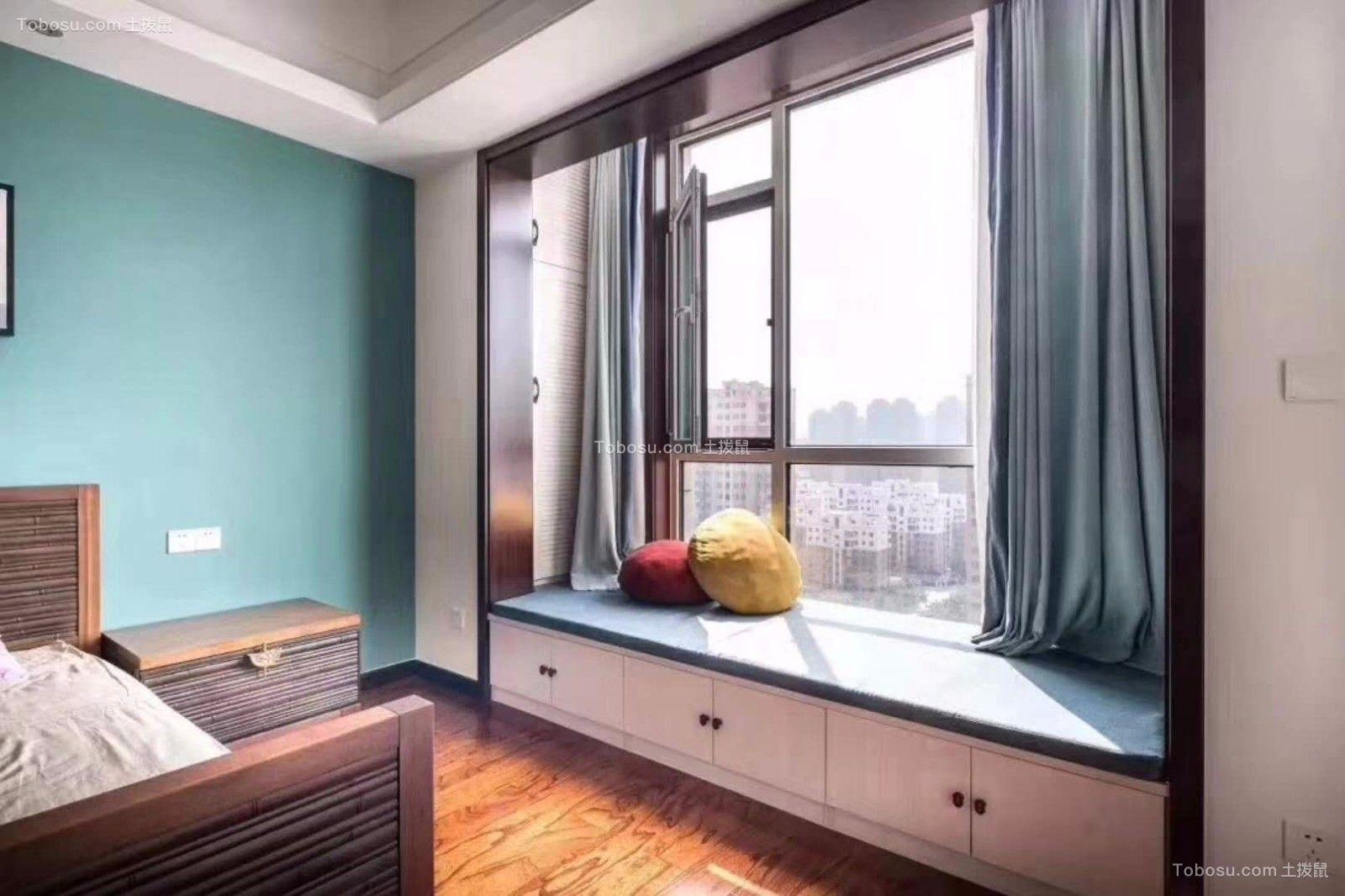 150㎡二室一厅新中式风格室内装修效果图